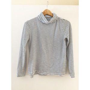 Madewell whisper cotton turtleneck kadler stripe S